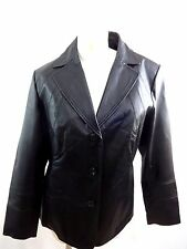 EAST 5TH WOMENS BLACK GENUINE LEATHER COAT JACKET SIZE XL