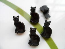 36pcs Novelty Buttons Cute Cat Craft Cardmaking Black