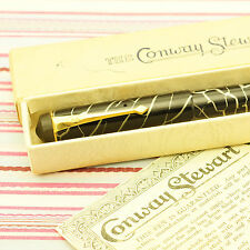 VINTAGE CONWAY STEWART 226 CRACK-ICE FOUNTAIN PEN EARLY FLAT-TOP BOX & GUARANTEE