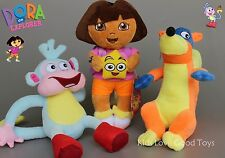 3X Dora The Explorer Swiper Fox Boots The Monkey Plush Toy Soft Doll 10'' Teddy