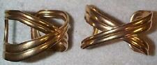 VINTAGE STUNNING WIDE TWIST CUFF BRASS BRACELET WOW-ONE