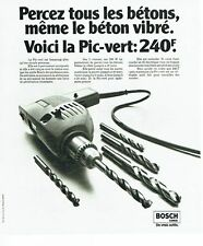 PUBLICITE ADVERTISING 037  1975  Outils Bosch   perceuse percussion Pic-vert