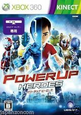 Used Xbox 360  PowerUP Heroes  MICROSOFT  JAPAN JAPANESE JAPONAIS IMPORT