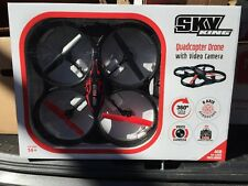 Sky King Quadcopter Drone 2.4GHz with Video Camera, 6 Axis Gyroscope 4GB SD Card