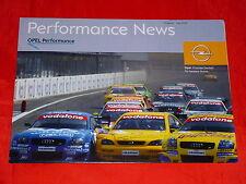 OPEL Motorsport Performance News Poster Prospekt von 2002