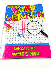 BRAND NEW JUMBO WORD SEARCH BOOK A4 SIZE LARGE PRINT PUZZLE FUN CREATIVE  GAMES
