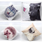 Cute Animals Print Soft Square Pillow Case Sofa Throw Cushion Cover Home Decor