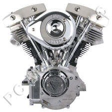 "S&S CYCLE 93"" SHOVELHEAD ENGINE MOTOR 1970-1984 HARLEY - NATURAL SILVER FINISH"