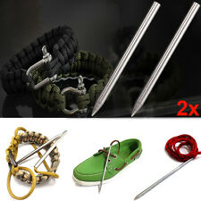 2pcs 3inch Stainless Lacing Tool Paracord Thread Shaft Tip Stiching Weave Needle