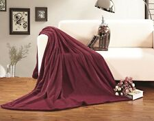 Ultra Super Soft Fleece Plush Luxury BLANKET All Sizes - 6 colors!
