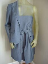 NWT $318 Anne Klein Navy Indigo Strapless Dress & Suit Jacket Blazer Womens 8 10
