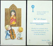 OLD FIRST COMMUNION REMEMBRANCE HOLY CARD YEAR 1966 ANDACHTSBILD SANTINI   C1093