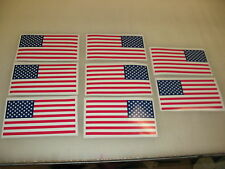 8 R&L Reverse USA MILITARY FLAG Sticker Decal LOT 4 Infrared American Backwards