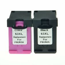 2 PK 63XL Black Color Combo Ink Cartridge F6U64A F6U63A for HP ENVY 4520 DeskJet