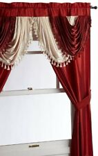 Regal Home Collections Amore 54Inch by 84Inch Window Set with Attached Valance,