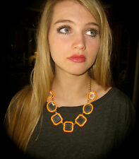 """KATE SPADE NEW YORK GORGEOUS """"FRAME OF MIND"""" ORANGE FACETED NECKLACE UNIQUE!"""