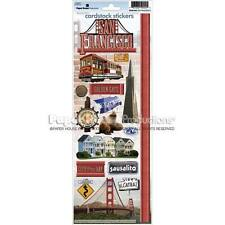 PAPER HOUSE SAN FRANCISCO CALIFORNIA TRAVEL VACATION SCRAPBOOK STICKERS