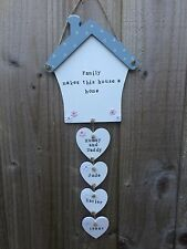 Personalised Wood Plaque Sign House New Home Mum Birthday Family Gift Present