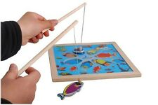 Wooden Magnetic Fishing Game  Jigsaw Puzzle Board Toy for Kids Baby Fun  Fine