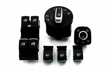 6PCS VW Golf MK5 MK6 Jetta Passat Tiguan CHROME Window Headlight Mirror Switch