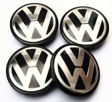4x VW Alloy Wheel Centre Caps 65mm to fit Transporter, Caddy, Bora, Golf