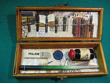 NIBS, PLUMILLAS,  PLUMIER, WOOD PENCIL, WOODEN BOX, CALLIGRAPHY