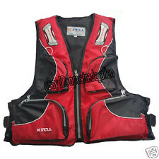 Adult Buoyancy Aid Kayak Boating Fishing Oxford Life Jacket Vest Red in stock