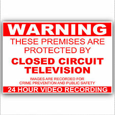 1  x Premises Protected by CCTV Camera Warning Sticker-Worded 24hr Security Sign