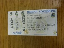 21/12/2013 BIGLIETTO: Bristol Rovers v Portsmouth (completo). grazie per la visualizzazione T