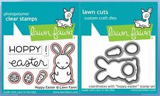 Lawn Fawn Photopolymer Clear Stamp & Die Combo ~ HOPPY EASTER  ~LF1319, LF1320