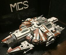 Custom Lego Compatible Star Wars Brown/Gray Corellian Patrol Ship With Crew!