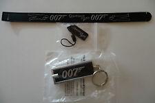 James Bond 007 Rare Wristband, Phone Tag & Keyring Light Set, Quantum of Solace