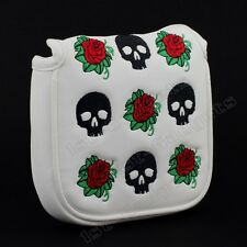 New Skull & Rose Mallet Putter Head cover for TaylorMade Ghost OS Spider, Si, S