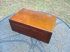 Antique Mahohany Veneer Handmade Document Box with Lock ~ No Key