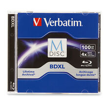 1-Piece Verbatim M-Disc 100GB 1000-Year Archival =TRIPLE LAYER= Blu-ray BD-R XL