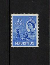 MAURITIUS 1953 25c BLUE Lightly Mounted Mint