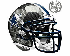 Dallas Cowboys Carbon Fiber Concept Mini Helmet (Chrome Navy)
