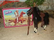 Big Jim / Barbie Pferd - Dallas + Box - Black Beauty / Fury - Rappe / Horse