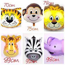6pcs JUMBO Animal Zoo Safari Giant Foil Helium Balloons Party Supplies Lion