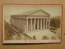 La Madeleine, Paris France. Albumen Photo Anc Maison Martinet (ref AP1-005)