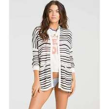 2016 NWT WOMENS BILLABONG OUTSIDE THE LINES STRIPE SWEATER $65 M off black
