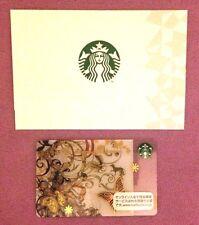 """STARBUCKS Japan Asami Kiyokawa """"AR"""" Butterfly Gift Card w/Japan Core Sleeve-RARE"""