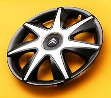 "4x16"" Citroen...SET OF 4 16 inch WHEEL TRIMS, COVERS, HUB CAPS, black & silver"