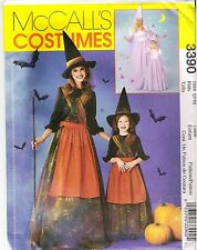 McCall's 3390 Witch and Princess Costume Sewing PATTERN FOR kids Sizes 3-8