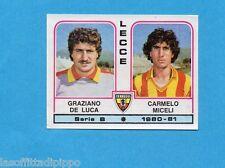 PANINI CALCIATORI 1980/81-Figurina n.409- DE LUCA+MICELI - LECCE -Rec