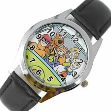 SCOOBY DOO SHAGGY CARTOON FILM MOVIE DVD VIDEO GAME BLACK LEATHER STEEL WATCH