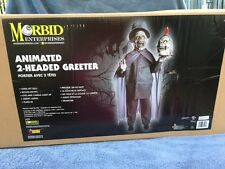 Halloween Lifesize Animated 2-HEADED GREETER Prop Haunted House NEW