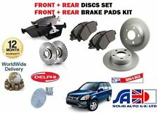 FOR HONDA CRV 2.0i 2002-2005 FRONT + REAR BRAKE DISCS SET AND DISC PADS KIT
