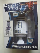 Star Wars R2-D2 Interactive MONEY BOX electronic coin bank SEALED Zeon 2012