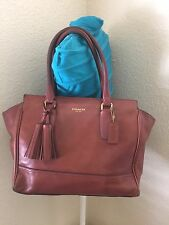 COACH BROWN LEATHER LEGACY CANDACE CARRYALL SATCHEL HANDBAG 19890